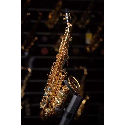 K-Man Gold Lacquer Soprano Curved